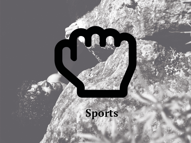 Bouldern Rock fingerpocket sport
